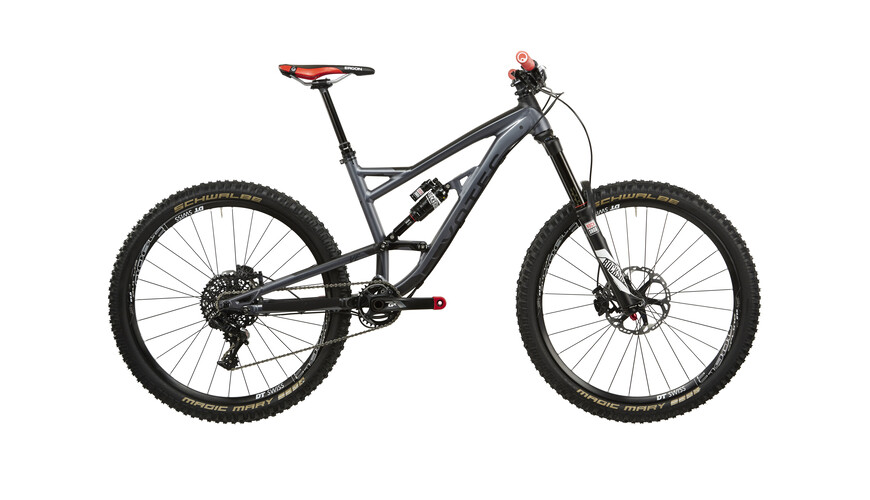 "VOTEC VE Pro Enduro Fullsuspension - MTB Fully - 27.5"" gris"